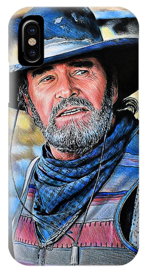 bbda473da90 James Garner IPhone X Case featuring the drawing Captain Woodrow F Call by  Andrew Read