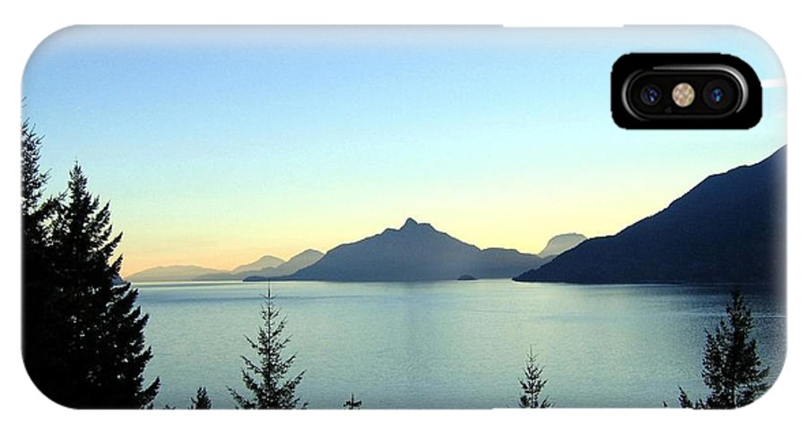 Howe Sound IPhone X Case featuring the photograph Captivating Howe Sound by Will Borden