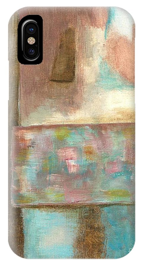 Abstract IPhone X Case featuring the painting Captive Dreamer by Itaya Lightbourne