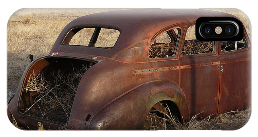 Nature IPhone X Case featuring the photograph Car At Rust by David Kehrli