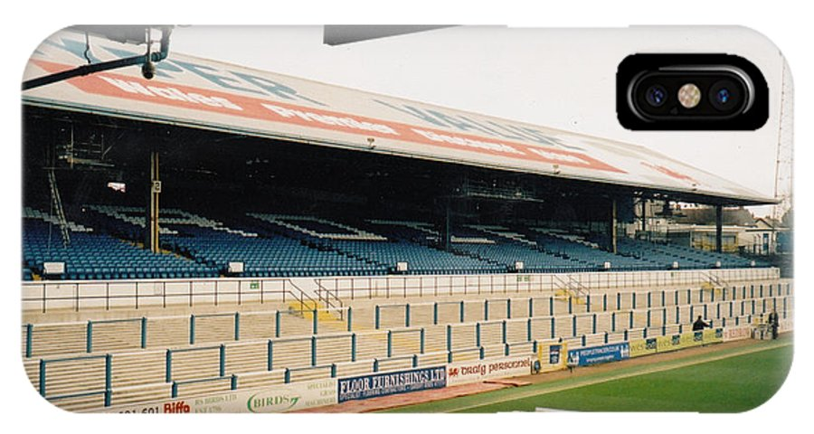 Cardiff City IPhone X Case featuring the photograph Cardiff - Ninian Park - East Stand Railway Side 5 - March 2004 by Legendary Football Grounds