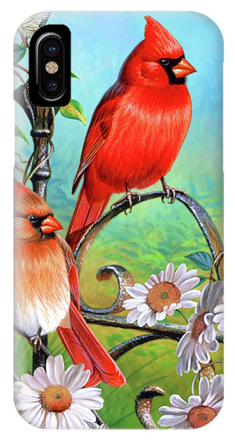 Cardinal IPhone X Case featuring the painting Cardinal Day 3 by JQ Licensing