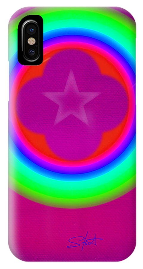 Abstract IPhone X Case featuring the painting Cardinal See by Charles Stuart