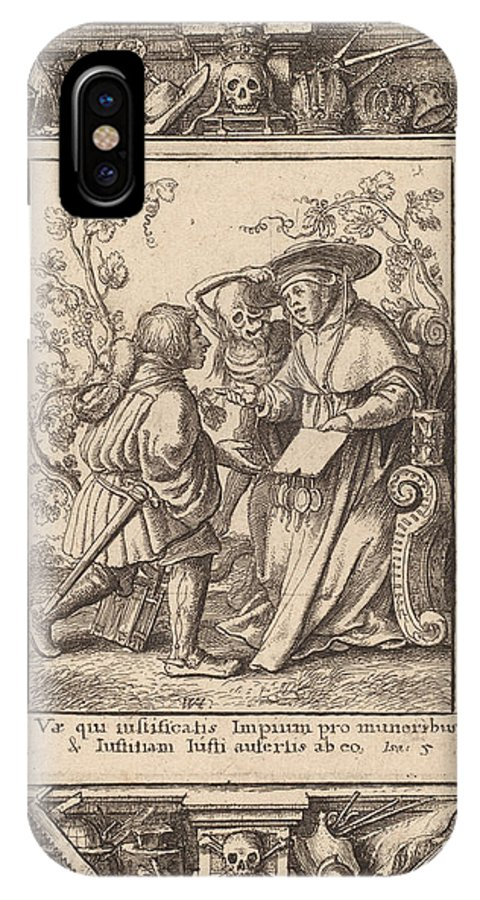 IPhone X Case featuring the drawing Cardinal by Wenceslaus Hollar After Hans Holbein The Younger After Abraham Van Diepenbeeck