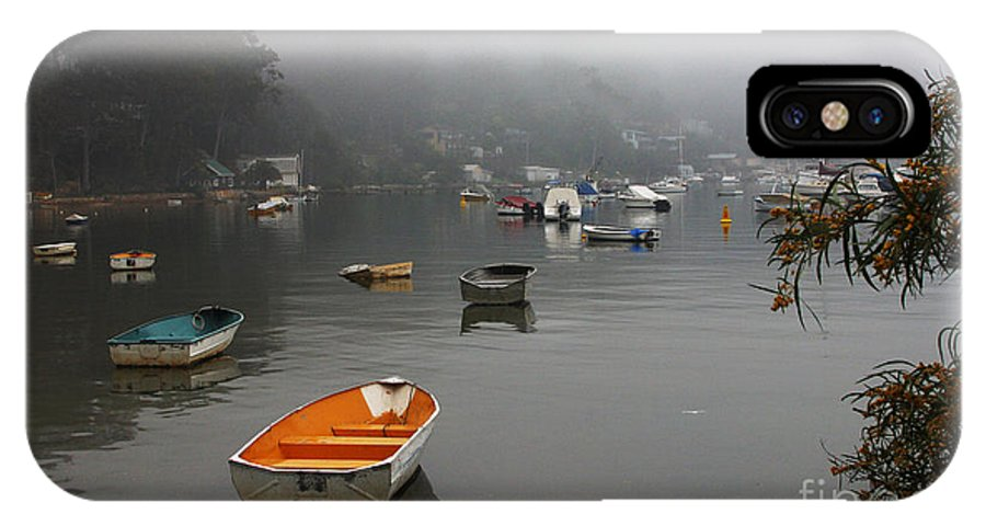 Mist IPhone X Case featuring the photograph Careel Bay mist by Sheila Smart Fine Art Photography