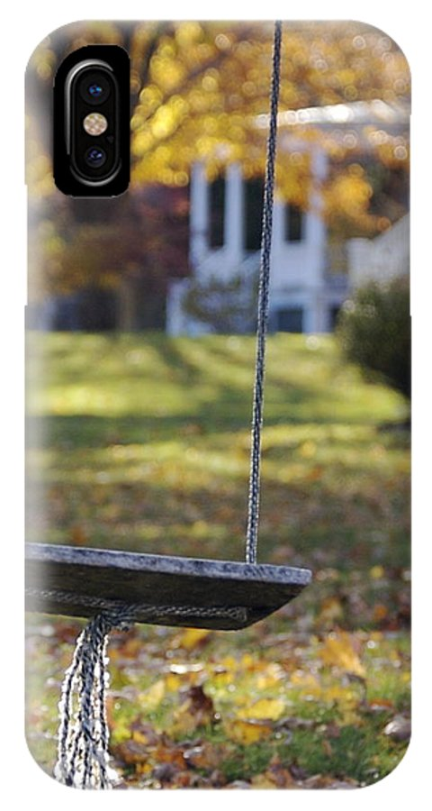 Swing IPhone X Case featuring the photograph Carefree by Faith Harron Boudreau