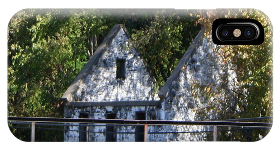 Stone House IPhone X Case featuring the photograph Caretakers House by Rebecca Smith