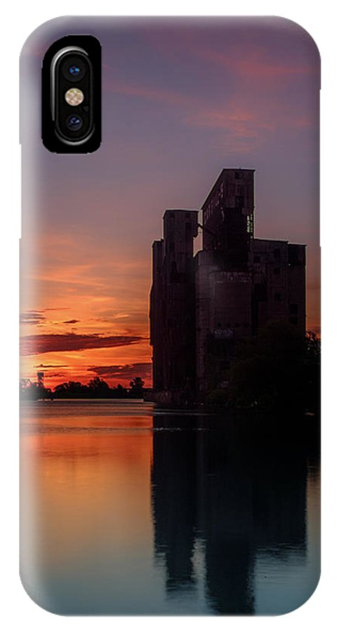 Cargill Superior IPhone X Case featuring the photograph Cargill Superior Twilight No 2 by Chris Bordeleau