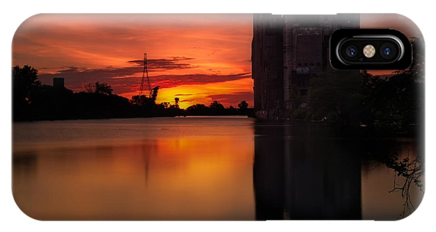 Cargill Superior IPhone X Case featuring the photograph Cargill Superior Twilight No 4 by Chris Bordeleau
