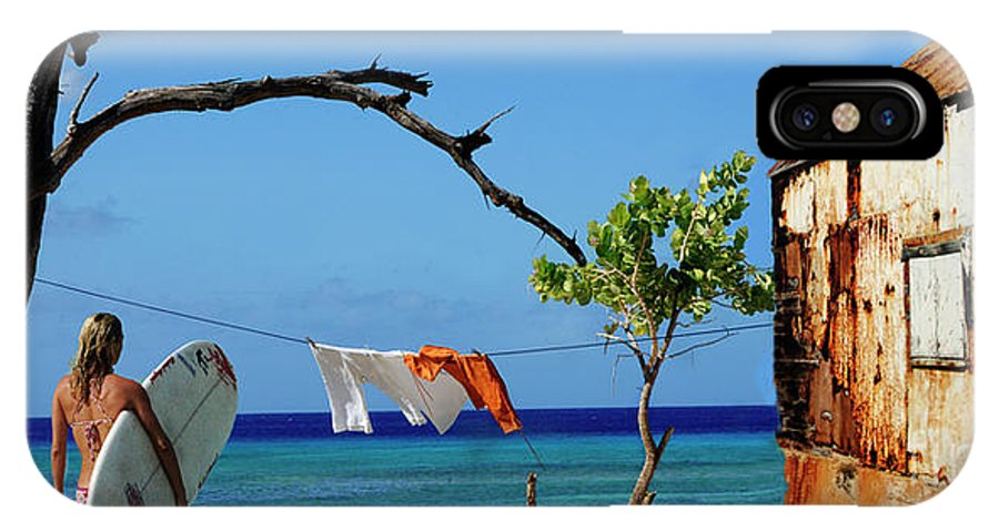 Caribbean IPhone X Case featuring the photograph Caribbean Blues 3 by Bob Christopher