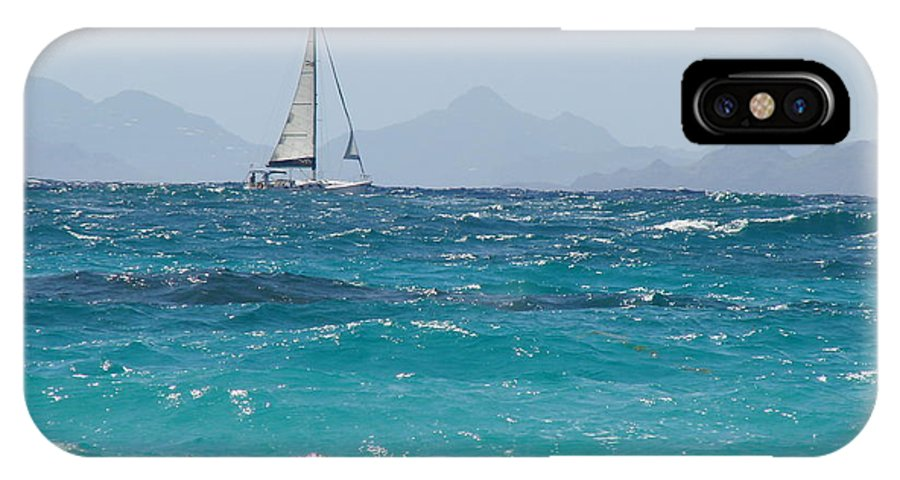 Landscape IPhone X Case featuring the photograph Caribbean Sailing by Margaret Bobb