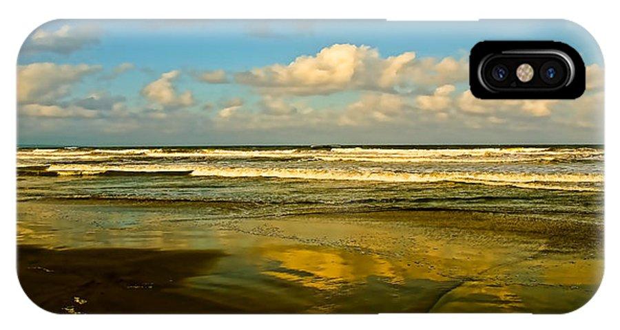 Caribbean IPhone X Case featuring the photograph Caribbean Seascape by Galeria Trompiz