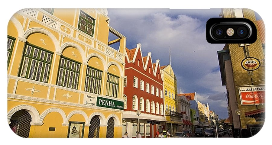 Curacao IPhone X Case featuring the photograph Caribbean Shopping District by Sven Brogren