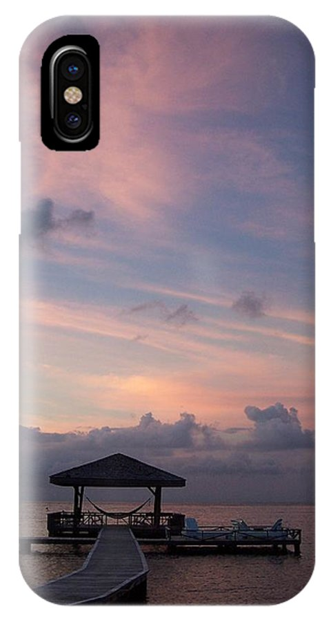 Ocean IPhone X Case featuring the photograph Caribbean Sunrise by Gale Cochran-Smith