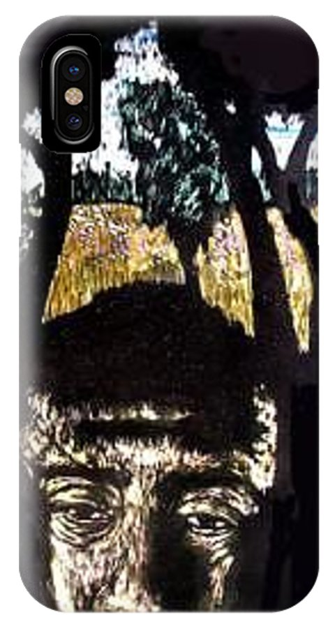 IPhone X Case featuring the mixed media Carlito's Idaho by Chester Elmore