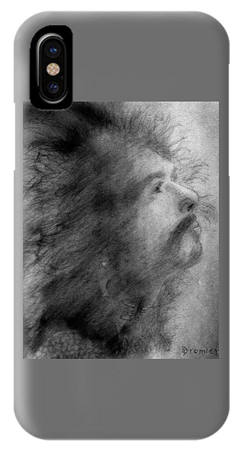 Santana IPhone X Case featuring the drawing Carlos Santana by David Bromley