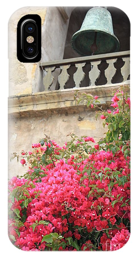 Carmel-by-the-sea IPhone X Case featuring the photograph Carmel Mission Bell by Carol Groenen