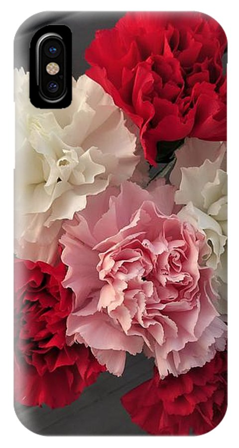 Carnation IPhone X Case featuring the photograph Carnations by Scenic Sights By Tara