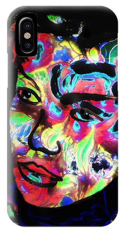 Carnival Woman IPhone X Case featuring the mixed media Carnival by Natalie Holland