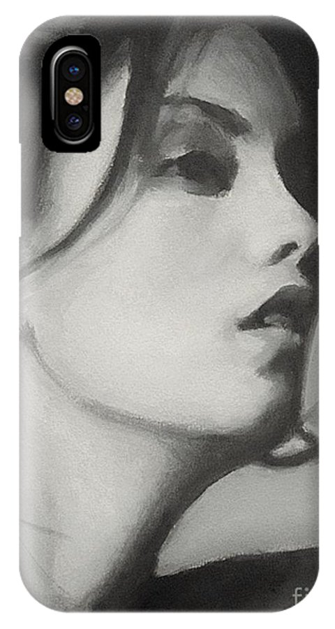 Oil IPhone X Case featuring the painting Carol by Robert Tillotson