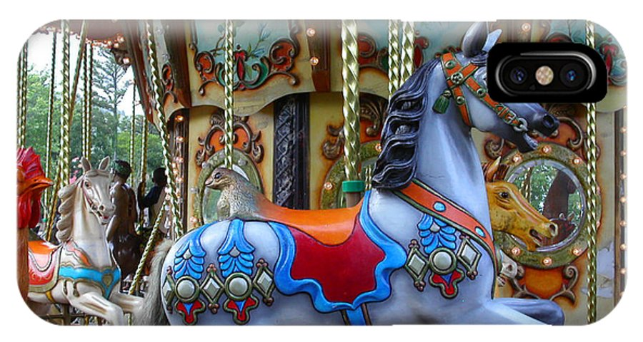 Carousel IPhone X Case featuring the photograph Carousel 1 by Anne Cameron Cutri