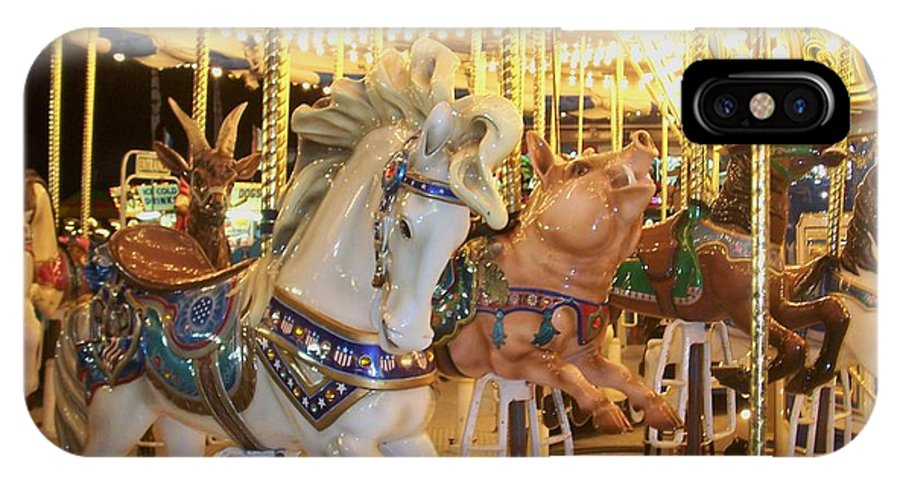 Carosel Horse IPhone Case featuring the photograph Carousel Horse 2 by Anita Burgermeister