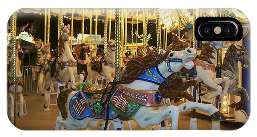 Carousel Horse IPhone Case featuring the photograph Carousel Horse 3 by Anita Burgermeister
