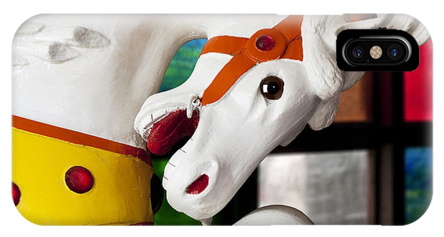 Carousel IPhone X Case featuring the photograph Carousel Horse 3 by Kelley King