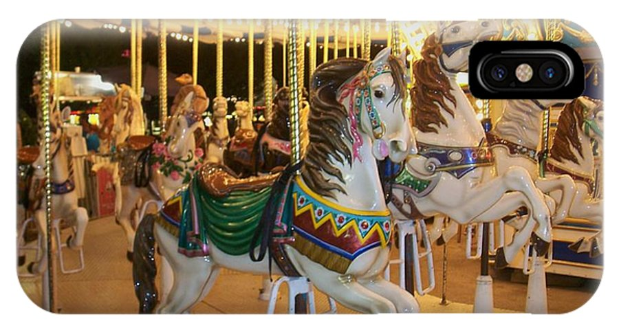 Carousel Horse IPhone Case featuring the photograph Carousel Horse 4 by Anita Burgermeister