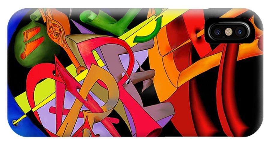 'carpe Diem' IPhone X Case featuring the digital art Carpe Diem II by Helmut Rottler
