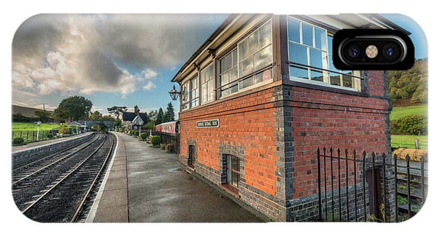 Carrog Station IPhone X Case featuring the photograph Carrog Signal Box by Adrian Evans