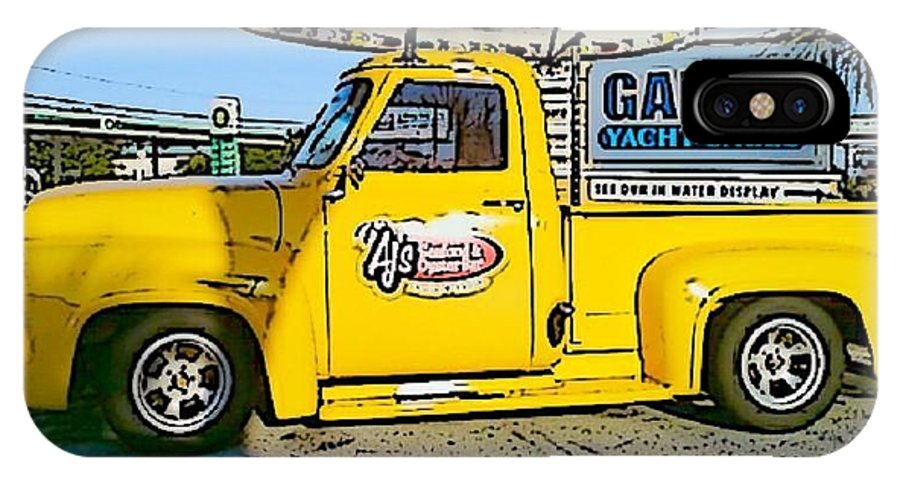 Cartoon IPhone X Case featuring the photograph Cartoon Truck by Michelle Powell