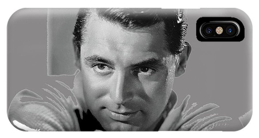 Cary Grant Glamor Portrait C. 1937-2015 IPhone X Case featuring the photograph Cary Grant Glamor Portrait C. 1937-2015 by David Lee Guss