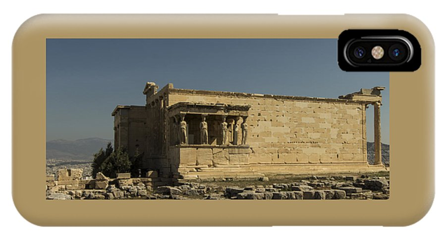 Greece IPhone X Case featuring the photograph Caryatids Of The Erechtheum by Melinda Anderson