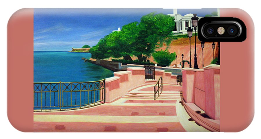Landscape IPhone Case featuring the painting Casa Blanca - Puerto Rico by Tito Santiago