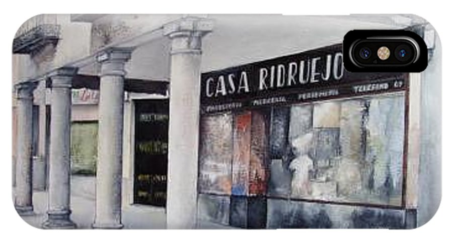 Casa IPhone X Case featuring the painting Casa Ridruejo Arevalo by Tomas Castano