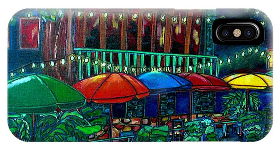 San Antonio IPhone X Case featuring the painting Casa Rio by Patti Schermerhorn