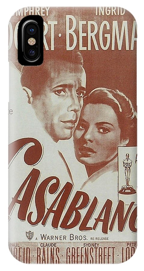 Casablanca IPhone X / XS Case featuring the digital art Casablanca by Georgia Fowler