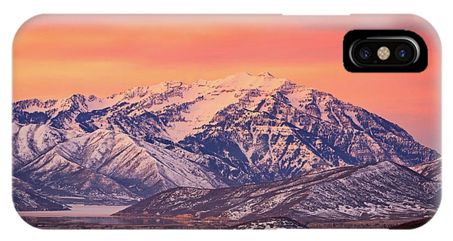 Cascade Ridge IPhone X Case featuring the photograph Cascade Ridge Sunrise by Johnny Adolphson