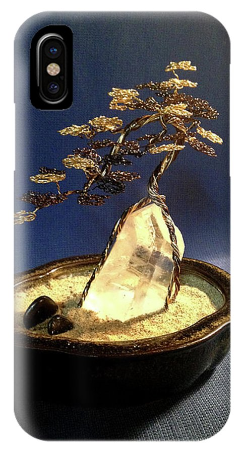 Cascade Style Wire Bonsai Tree On Quartz Crystal Iphone X Case For Sale By Twisted Gypsy Art