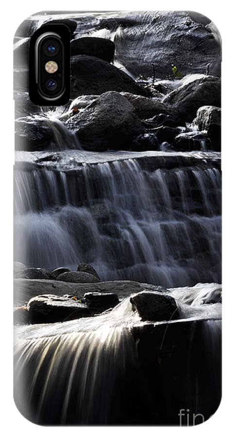 Clay IPhone X Case featuring the photograph Cascading Falls by Clayton Bruster