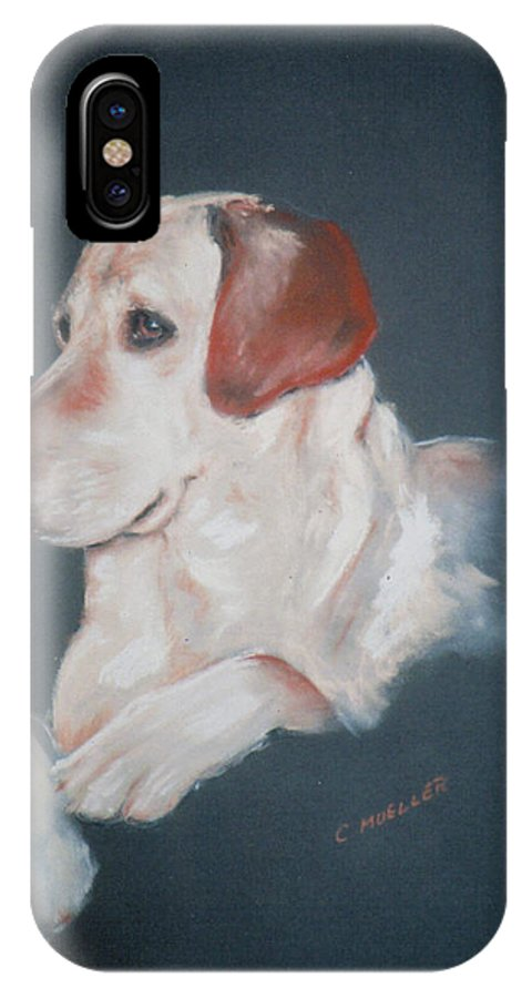 Dog IPhone X Case featuring the painting Casey by Carol Mueller