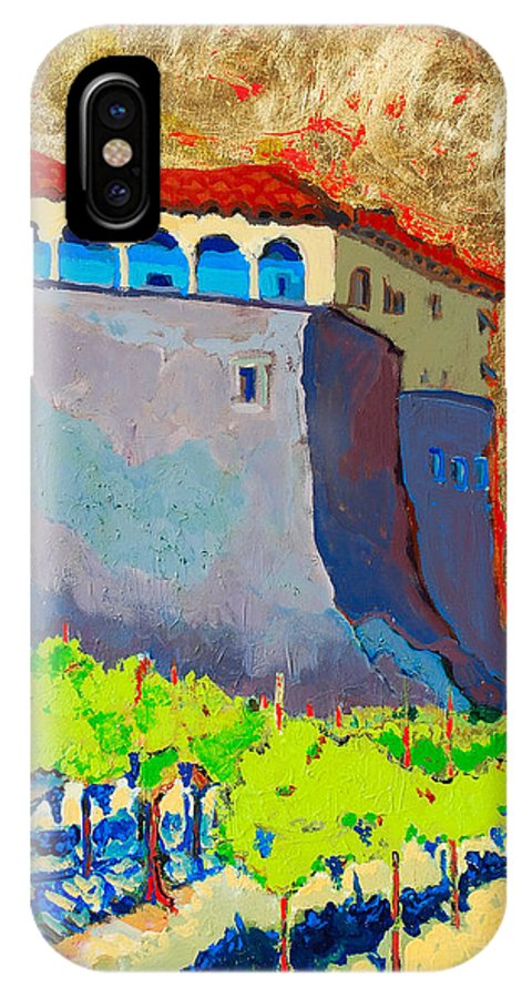 Castle IPhone Case featuring the painting Castello Di Villafranca by Kurt Hausmann