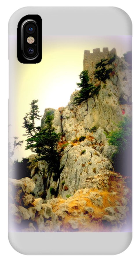 Castle IPhone X Case featuring the photograph We Climbed Up To The Old Castle by Hilde Widerberg