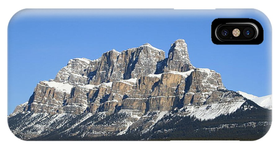 Cascade Mountain IPhone X Case featuring the photograph Castle Mountain Winter by Tiffany Vest