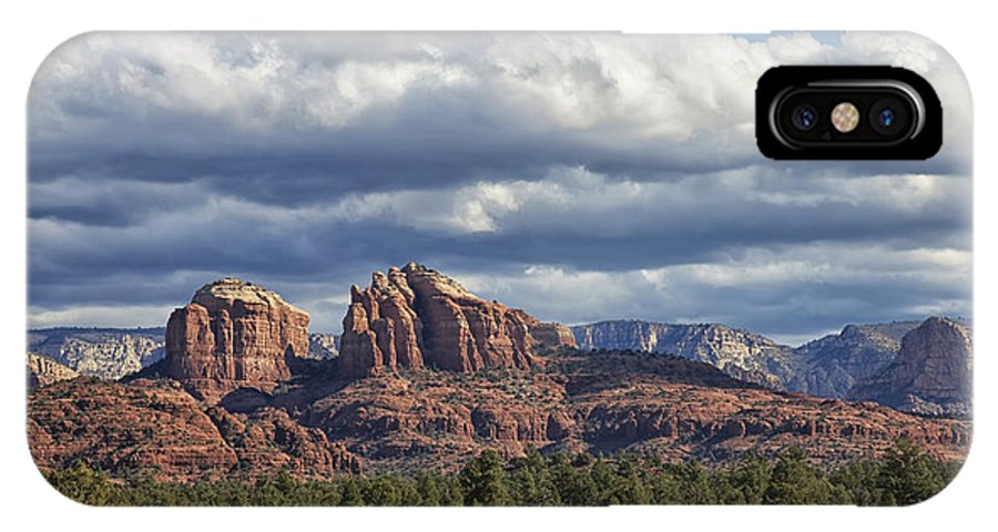 Arizona IPhone X Case featuring the photograph Castle Rock by Phill Doherty