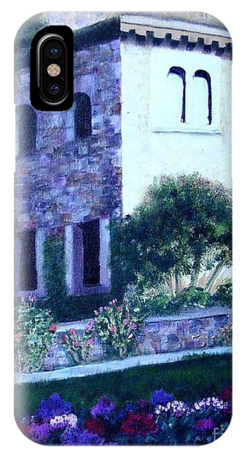 Italy IPhone X Case featuring the painting Castle Sestri Levante by Laurie Morgan