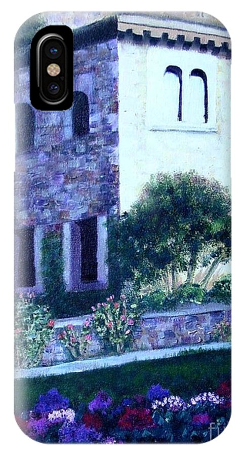 Italy IPhone Case featuring the painting Castle Sestri Levante by Laurie Morgan