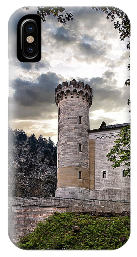 Neuschwannstein Castle IPhone X Case featuring the photograph Castle Tower by Endre Balogh