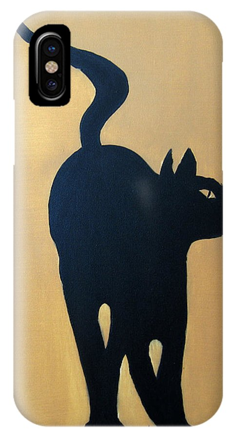 Cat IPhone Case featuring the painting Cat Dance..... Optical Illusion by Patrick Trotter